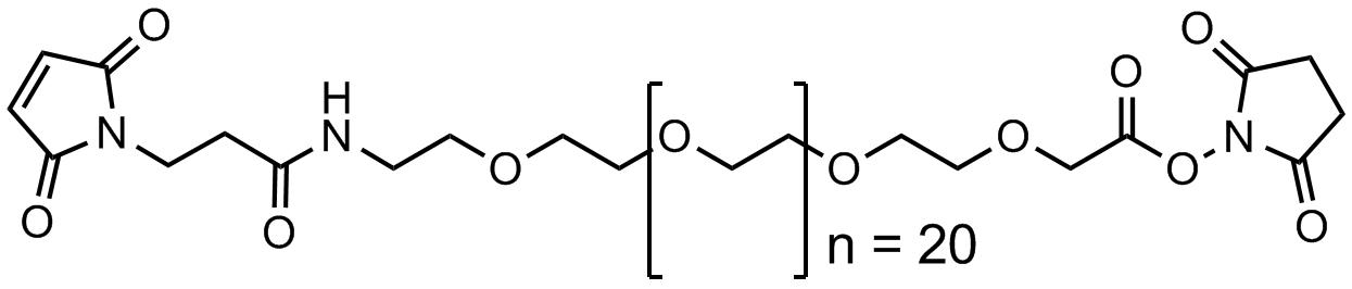 3`-马来酰基丙酸酰基-二十四聚乙二醇-乙酸琥珀酰亚胺酯聚合物